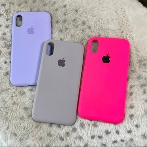3 iPhone X & XS Silicone Cases- New